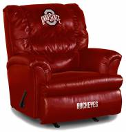 Ohio State Buckeyes Big Daddy Red Leather Recliner