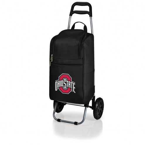 Ohio State Buckeyes Black Cart Cooler