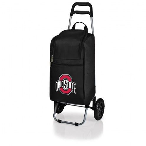 Ohio State Buckeyes Black Cart Cooler