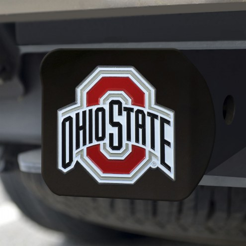 Ohio State Buckeyes Black Color Hitch Cover