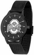 Ohio State Buckeyes Black Dial Mesh Statement Watch