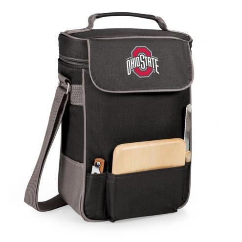Ohio State Buckeyes Black Duet Insulated Wine Bag