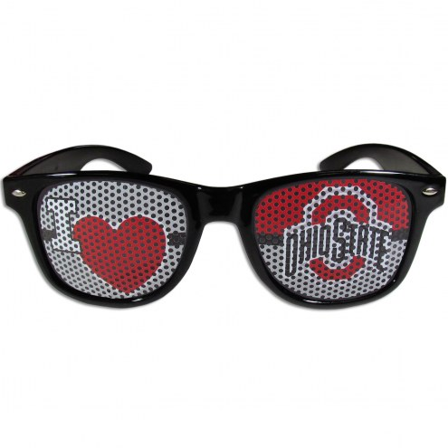 Ohio State Buckeyes Black I Heart Game Day Shades