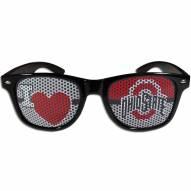 Ohio State Buckeyes Black I Heart Game Day Shades