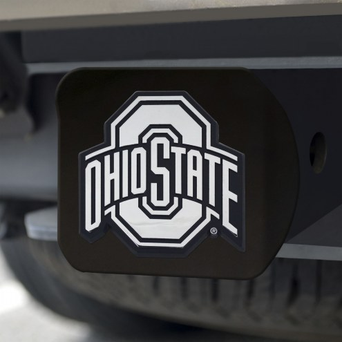 Ohio State Buckeyes Black Matte Hitch Cover