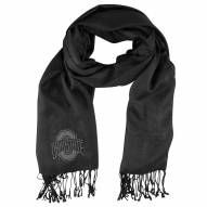 Ohio State Buckeyes Black Pashi Fan Scarf
