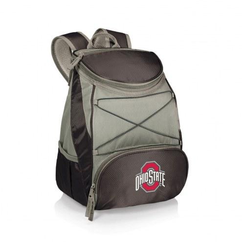 Ohio State Buckeyes Black PTX Backpack Cooler
