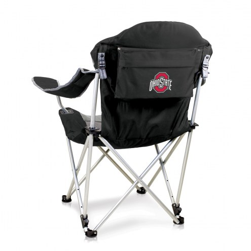 Ohio State Buckeyes Black Reclining Camp Chair