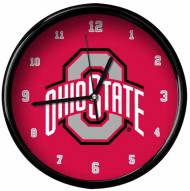 Ohio State Buckeyes Black Rim Clock