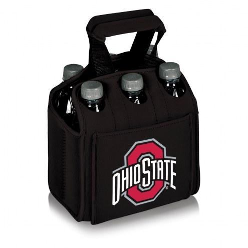 Ohio State Buckeyes Black Six Pack Cooler Tote