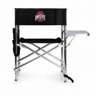 Ohio State Buckeyes Black Sports Folding Chair