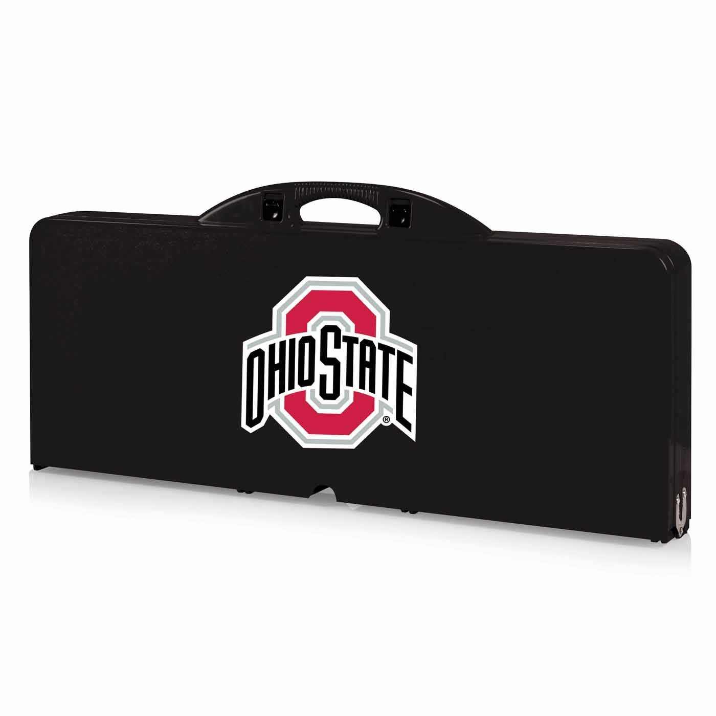 Ohio State Buckeyes Black Sports Folding Picnic Table