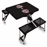 Ohio State Buckeyes Black Sports Folding Picnic Table