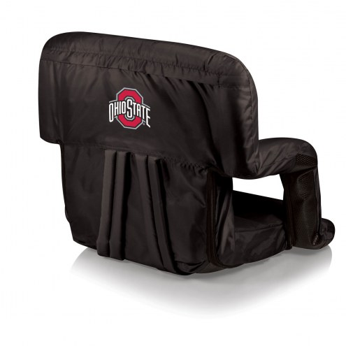 Ohio State Buckeyes Black Ventura Portable Outdoor Recliner