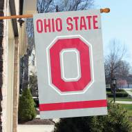 Ohio State Buckeyes Block Applique Banner Flag