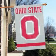 Ohio State Buckeyes Block Applique Banner Flag