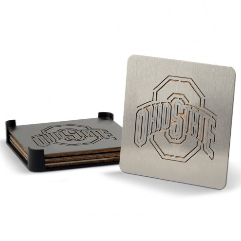 Ohio State Buckeyes Boasters Stainless Steel Coasters - Set of 4