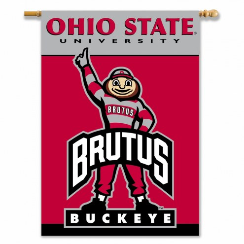 """Ohio State Buckeyes Brutus 28"""" x 40"""" Two-Sided Banner"""
