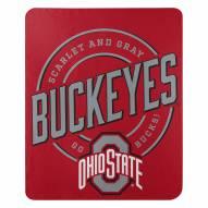 Ohio State Buckeyes Campaign Fleece Throw Blanket
