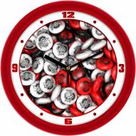 Ohio State Buckeyes Candy Wall Clock