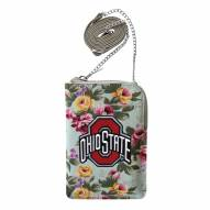 Ohio State Buckeyes Canvas Floral Smart Purse