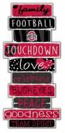 Ohio State Buckeyes Celebrations Stack Sign