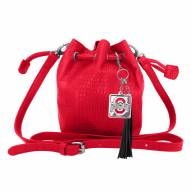 Ohio State Buckeyes Charming Mini Bucket Bag