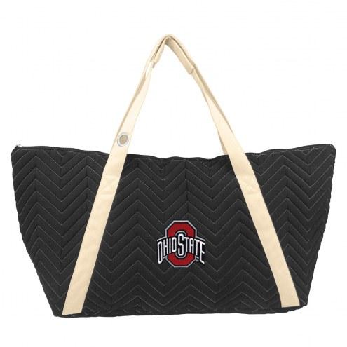Ohio State Buckeyes Chevron Stitch Weekender Bag