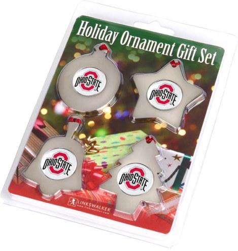 Ohio State Buckeyes Christmas Ornament Gift Set