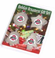 Ohio State Buckeyes Christmas Ornament Gift Set