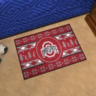 Ohio State Buckeyes Christmas Sweater Starter Rug