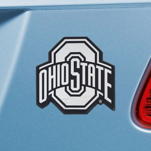Ohio State Buckeyes Chrome Metal Car Emblem