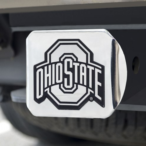 Ohio State Buckeyes Chrome Metal Hitch Cover
