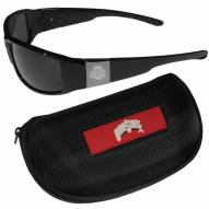 Ohio State Buckeyes Chrome Wrap Sunglasses & Zippered Carrying Case