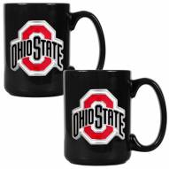 Ohio State Buckeyes College 2-Piece Ceramic Coffee Mug Set