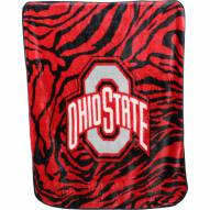 Ohio State Buckeyes Raschel Throw Blanket