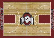 Ohio State Buckeyes College Home Court Area Rug
