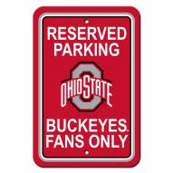 Ohio State Buckeyes College Parking Sign