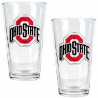 Ohio State Buckeyes College 16 Oz. Pint Glass 2-Piece Set