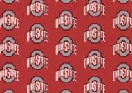 Ohio State Buckeyes College Repeat Area Rug