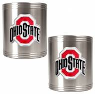 Ohio State Buckeyes College Stainless Steel Can Holder 2-Piece Set
