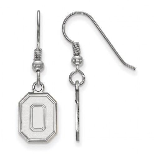 Ohio State Buckeyes Sterling Silver Small Dangle Earrings