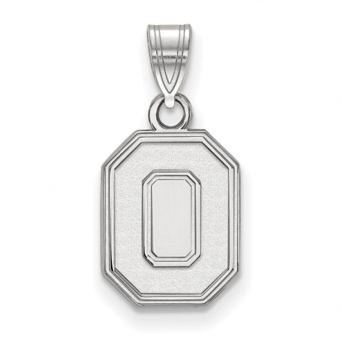 Ohio State Buckeyes Sterling Silver Small Pendant