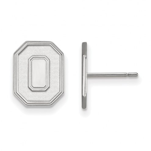 Ohio State Buckeyes Sterling Silver Small Post Earrings