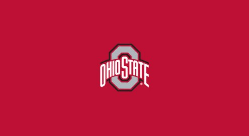 Ohio State Buckeyes College Team Logo Billiard Cloth