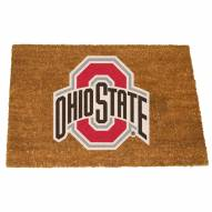 Ohio State Buckeyes Colored Logo Door Mat