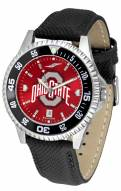 Ohio State Buckeyes Competitor AnoChrome Men's Watch - Color Bezel