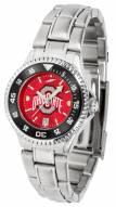 Ohio State Buckeyes Competitor Steel AnoChrome Women's Watch - Color Bezel
