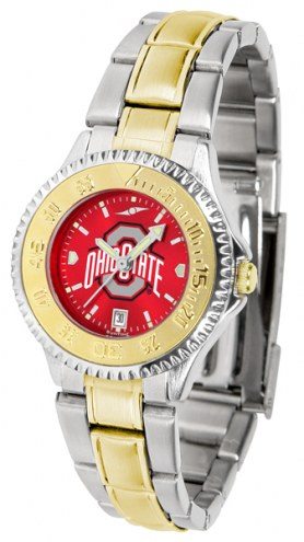 Ohio State Buckeyes Competitor Two-Tone AnoChrome Women's Watch