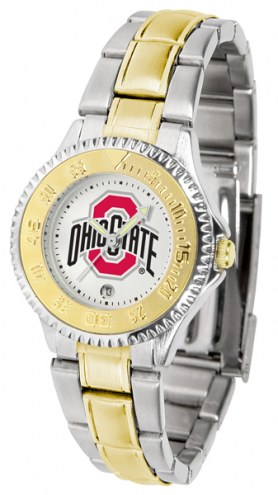 Ohio State Buckeyes Competitor Two-Tone Women's Watch